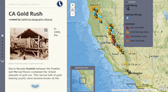California Gold Rush Story Map screenshot