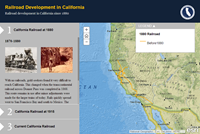 California Railroad Development Story Map screenshot